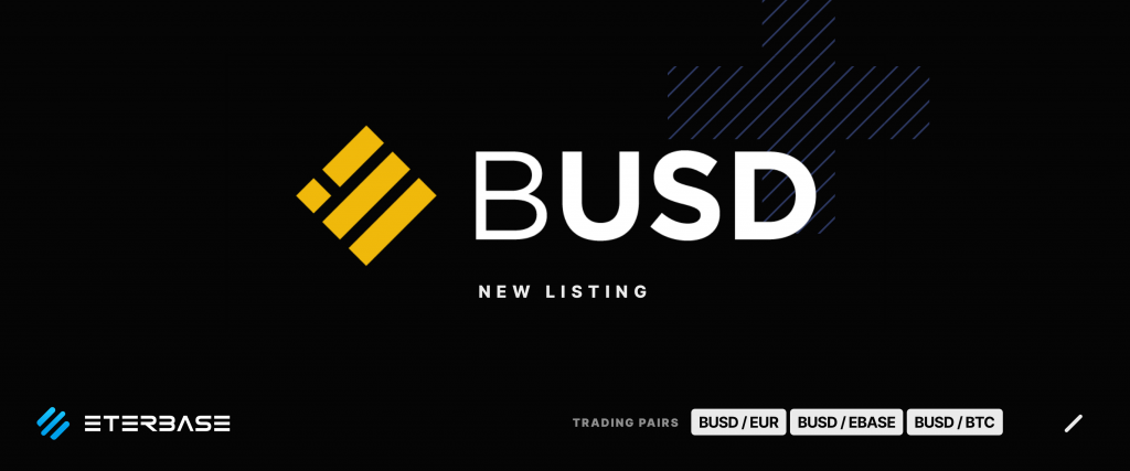 ETERBASE Listing BUSD